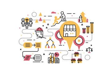 Franchise business illustration