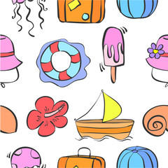 Patter summer theme collection stock