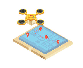 Goods Delivery Tracking Isometric Illustration