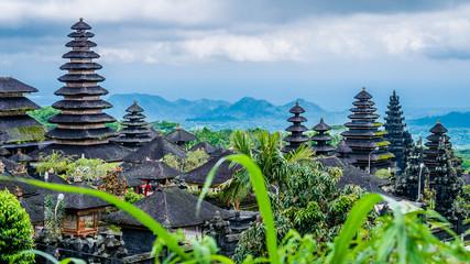 Foto auf AluDibond Bali Roofs in Pura Besakih Temple in Bali Island, Indonesia