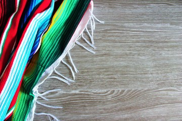 Mexican poncho Mexico background cinco de mayo blanket fiesta background with stripes copy space pattern rug stock photo photograph image picture