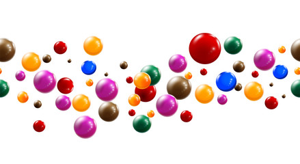 Colorful Glossy Balls Background.
