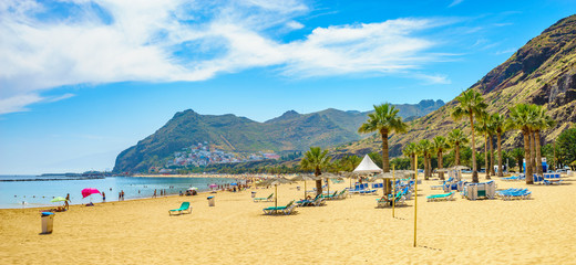 Poster Canarische Eilanden Tenerife, Canary Islands, Spain-Las Teresitas beach near San Andres