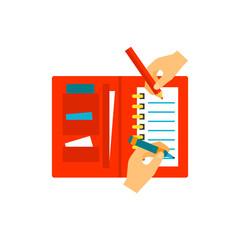 personal organizer hand vector
