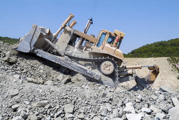 Bulldozer Machine Earthmoving Vehicle