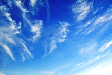 Beautiful blue sky background for texture