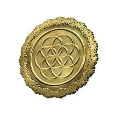 Blume des Lebens - Medaillon Gold
