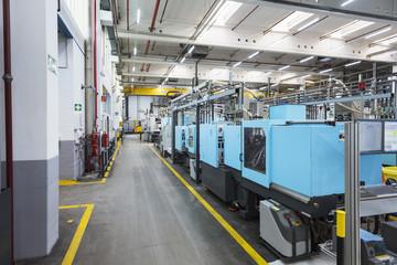 Machines on factory shop floor