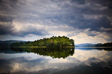 Island on Lake Bunyonyi - Uganda Wall mural