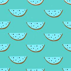 Watermelon hand drawn seamless pattern.