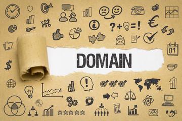 Domain / Papier mit Symbole