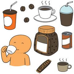 vector set of coffee