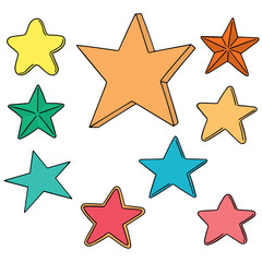 vector set of star