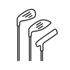Golf clubs linear icon