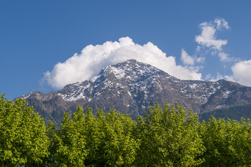 View of the top of Mount Legnone from the village of Colico - Lake Como (Italy)