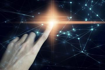 hand touch push on light net