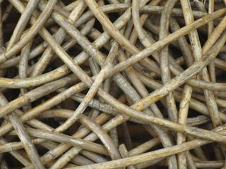 Texture di legno e plastica intreccio