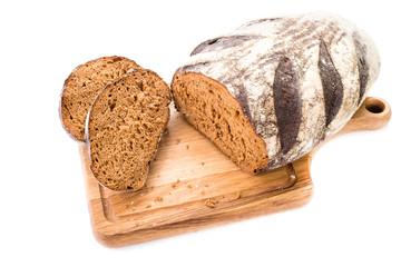 sliced bread on a board