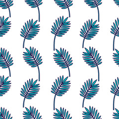 Seamless Tropical Jungle Palm Leaves Pattern.