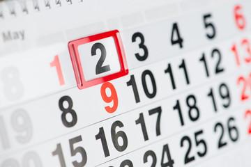 Calendar 2 May