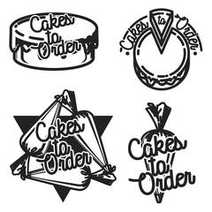 Color vintage cakes to order emblems