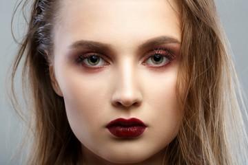Beauty Woman Portrait. Professional Makeup for Brunette