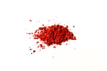 Beauty, makeup cosmetics, red blush splash palette