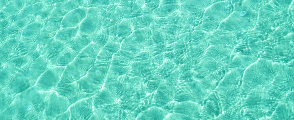 Ocean background turquoise water