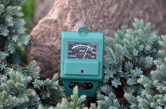 Soil moisture, light and PH meter for small private garden