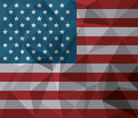 USA flag american national symbol abstract vector illustration