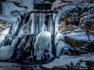 icy waterwall