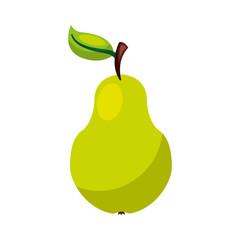 pear fresh fruit icon vector illustration design