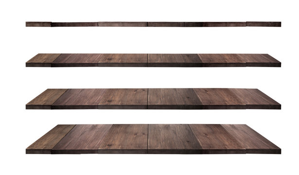 collection of wooden shelves