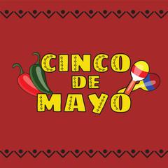 Vector illustration of Cinco de Mayo celebration background
