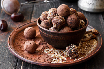 Vegan homemade truffles