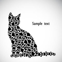 Silhouette of cat from the cat tracks