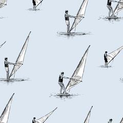 pattern of windsurfers