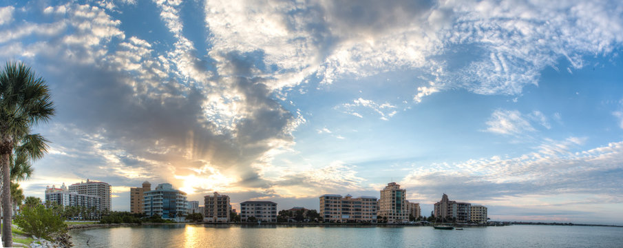 Sarasota Skyline At Sunrise
