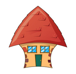 cartoon house vector symbol icon design.