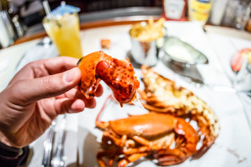 Lobster served in english pub