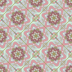 Seamless tile floral pattern