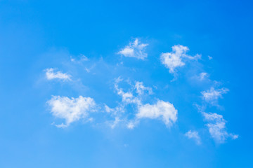 Single cloud in the sky, blue sky background. one cloud use for paint brush tool.
