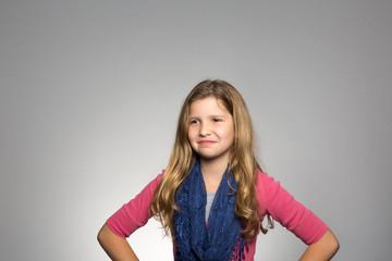 Studio portrait of a confident girl