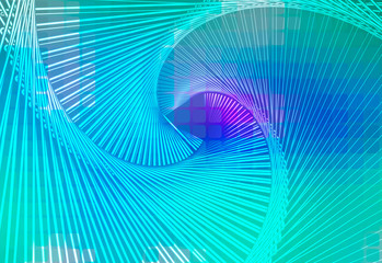 Turquoise blue purple glowing spiral background