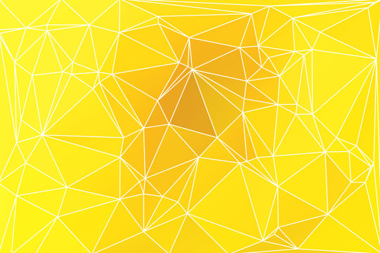 Bright golden yellow geometric background with mesh.