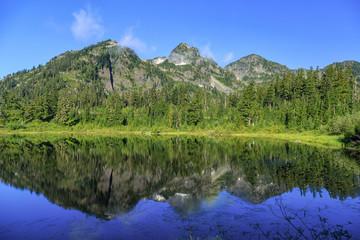 Picture Lake Reflection, Washington, USA