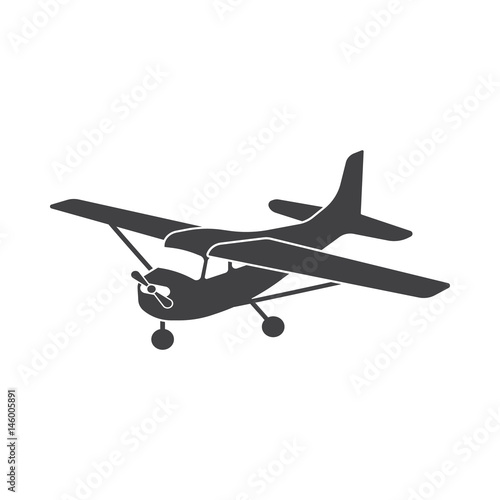 Small Aircraft With Propeller Vector Drawing Stock Image And