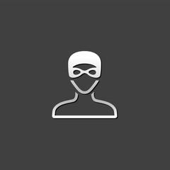 Metallic Icon - Swimming athlete