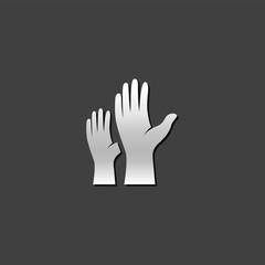 Metallic Icon - Hands