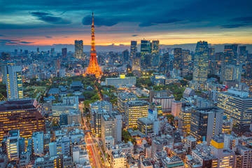 Tokyo. Cityscape image of Tokyo, Japan during sunset.